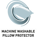 Machine washable pillow protector